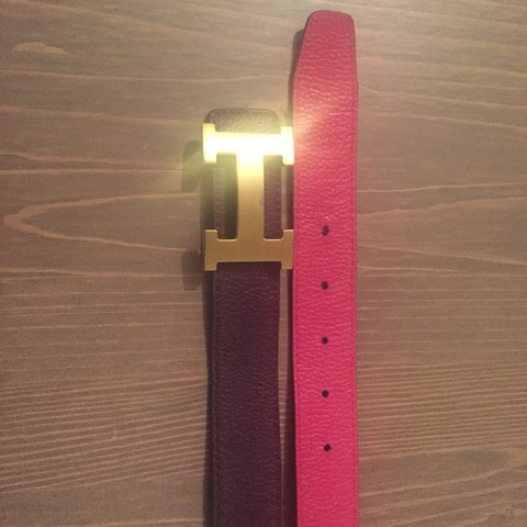 a50e39f9bd923 100% Authentic Hermes belt for sale. 2 sided, pink and with - Depop