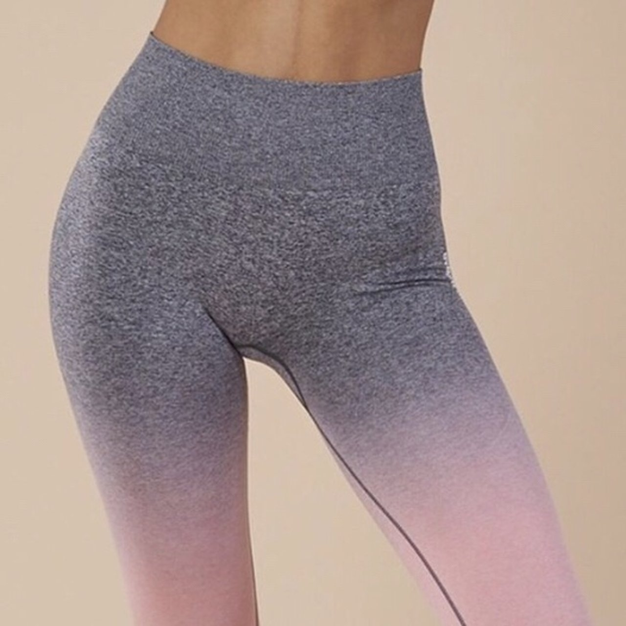 574b7f72caa7fa @bvbygoth. 7 months ago. Ypsilanti, United States. Gymshark Ombre Seamless  Leggings - Peach Pink/Charcoal ...