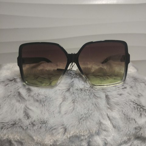 24e94fc0ec5c ✨Bad & Boujee Sunglasses✨ New sexy black big frame with and - Depop
