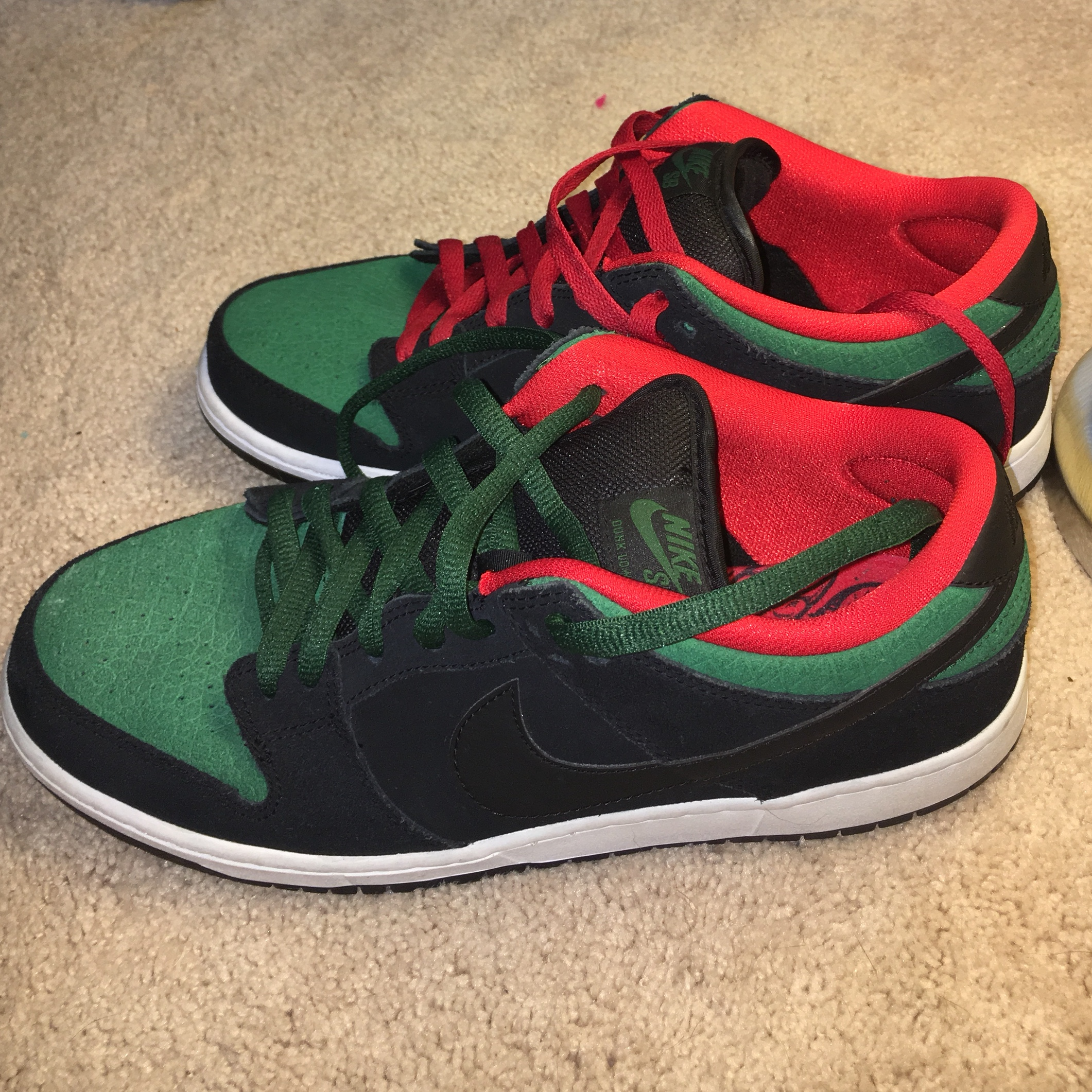 """low priced 7200e 081c8 Nike SB dunk low """"gucci"""" Size 10 great condition... - Depop"""