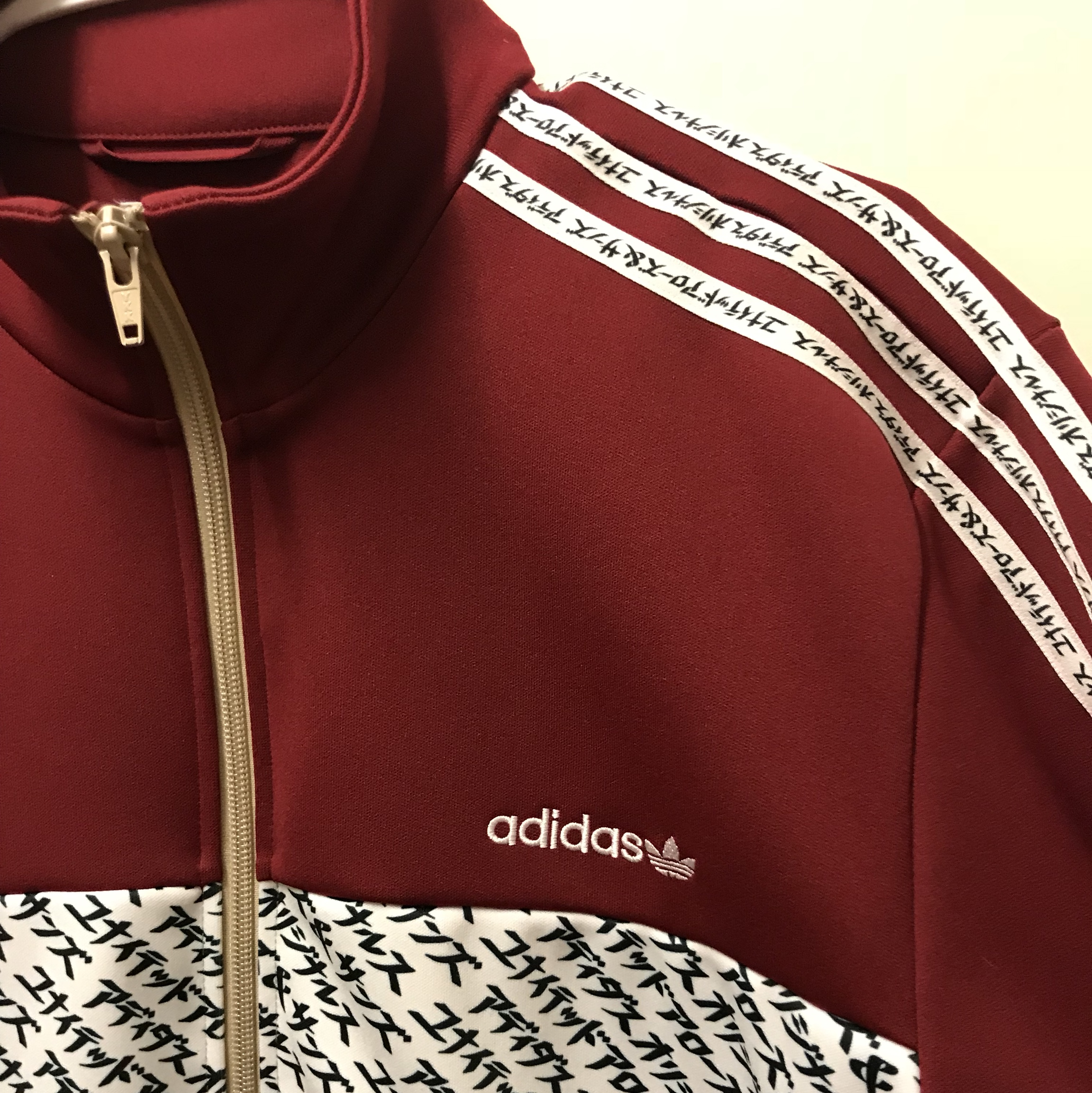 finest selection 7f1a2 343a7 Adidas x United arrows mikitype jacket Burgundy... - Depop