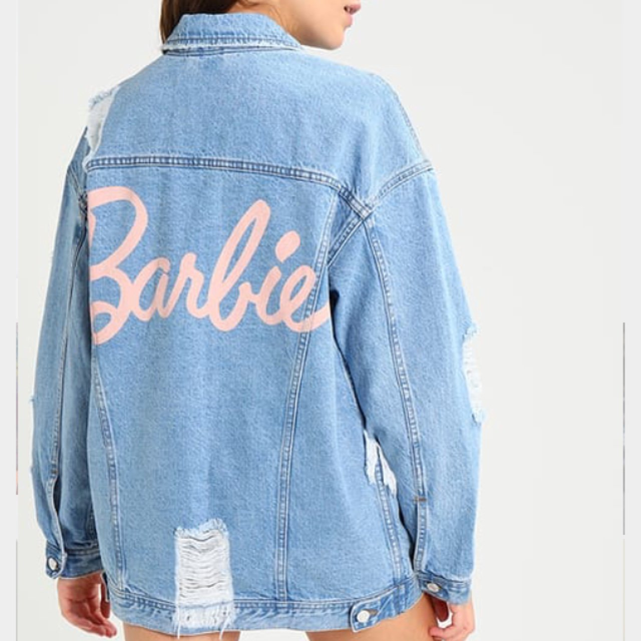 d20a874cea5d Barbie X Missguided blue denim jacket. Sold out everywhere