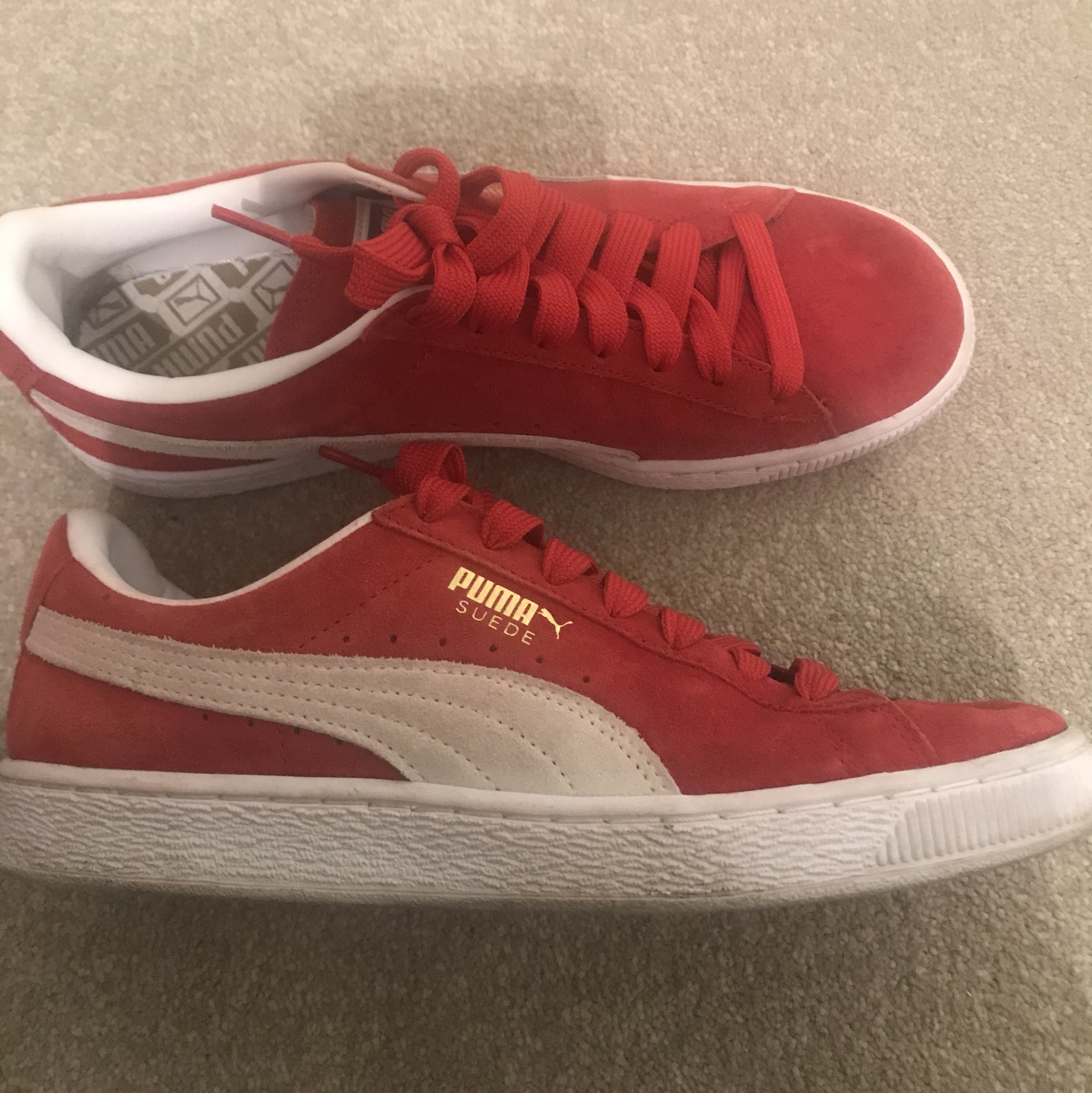 new arrivals 3dcc8 f45f2 Puma Suede Red Trainers in UK 6.5. Bought off ASOS ...