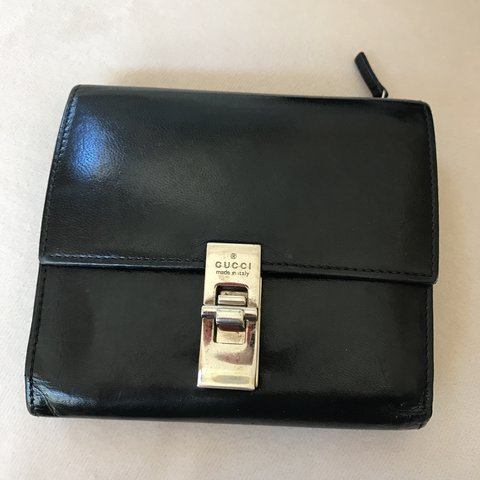 f0c6502a254 Authentic vintage Gucci wallet. Real black leather. My mom I - Depop