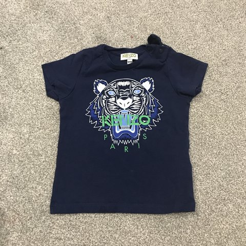 87e712e50a Navy kenzo tshirt small fitting more 9-12 months rather than - Depop