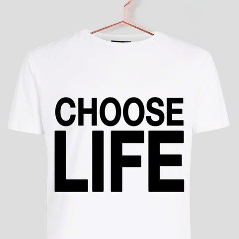 90edc9f3 Raw-Couture Choose Life Wham printed T-shirt in Dispatch - - - Depop