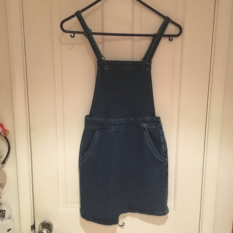 f51dc355b95 Asos denim dungaree pinafore dress size petite 8. Would also - Depop