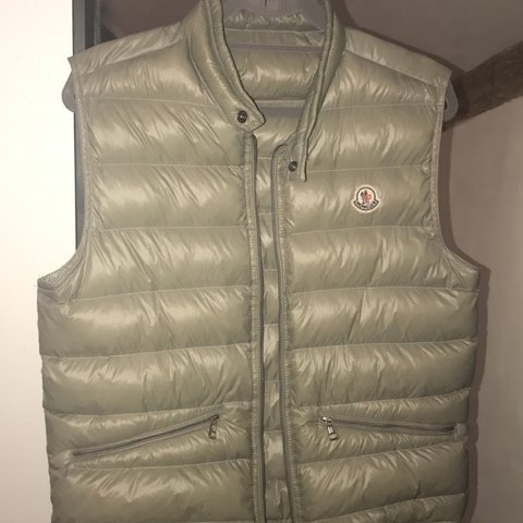 2696ed1a0f72 Grey Moncler gilet in size small. Bought for £325 from and a - Depop