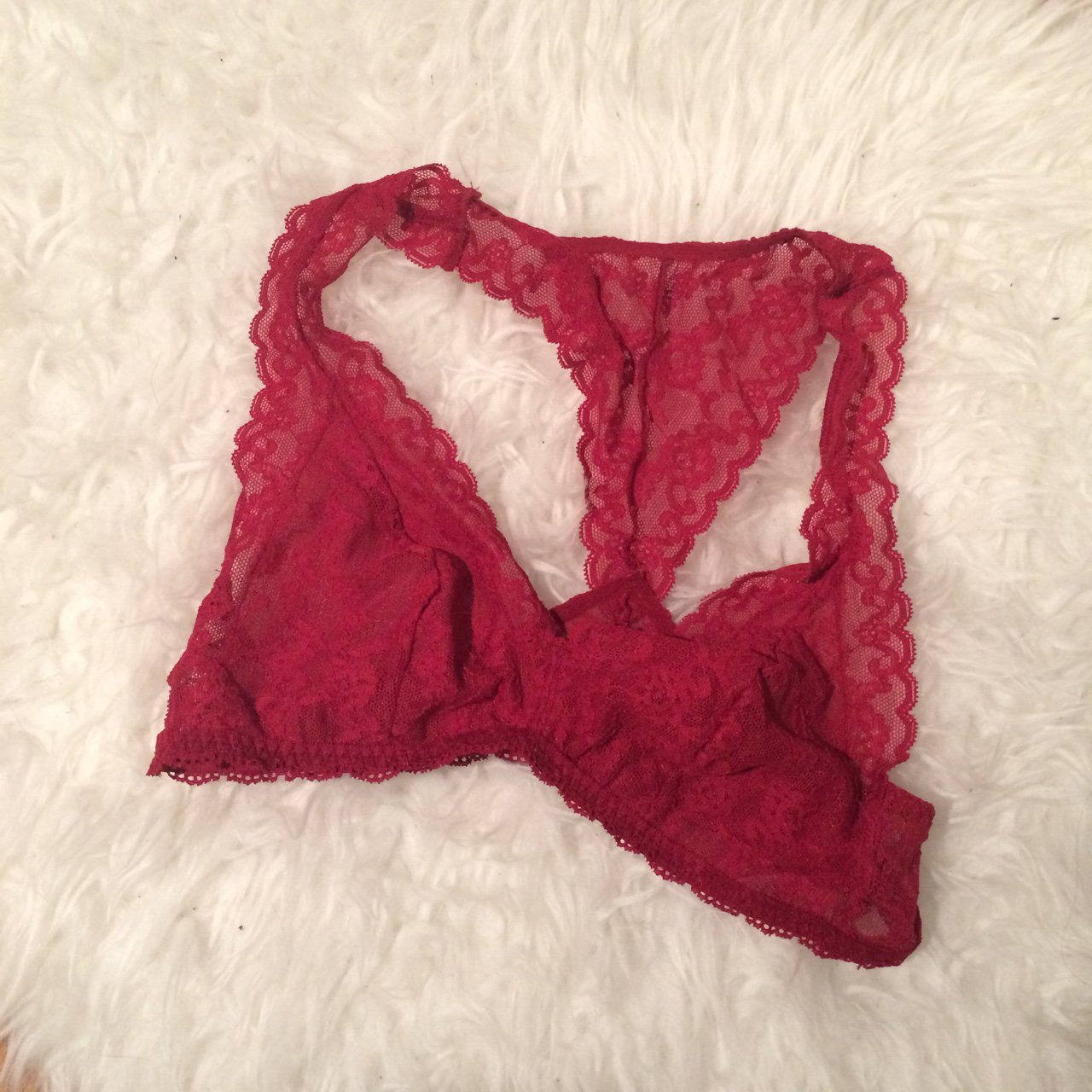 ac013000c38bc 🌹 red lace bralette from victorias secret 🌹these are so i - Depop
