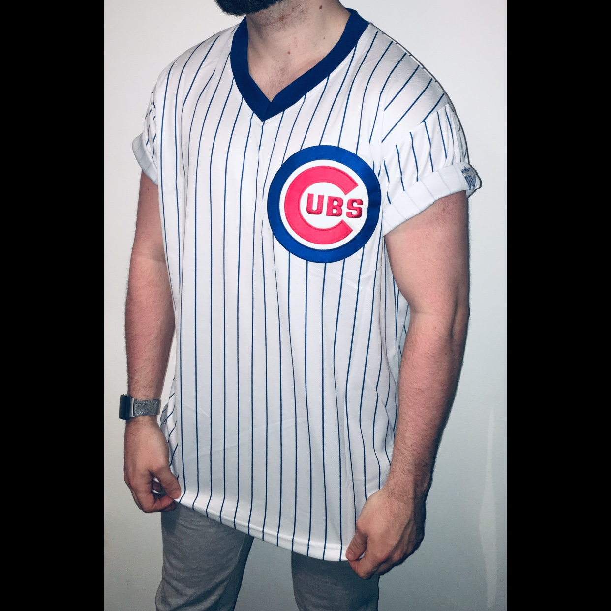 best service e82ca 95bf0 Chicago Cubs retro throwback jersey with Sandberg 23 ...