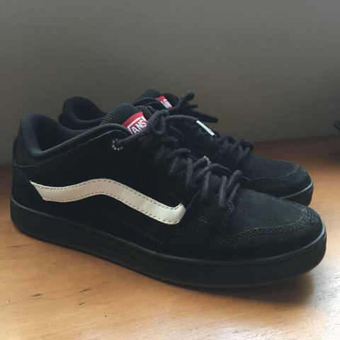 09fb0b6674eb Men s Old Skool Vans all black with white stripe - UK 7 - - Depop