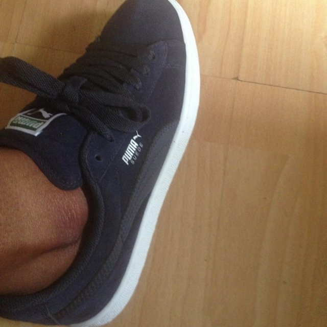 Navy Blue on blue Puma suede classic trainers size 5 worn 5 - Depop e84919f20