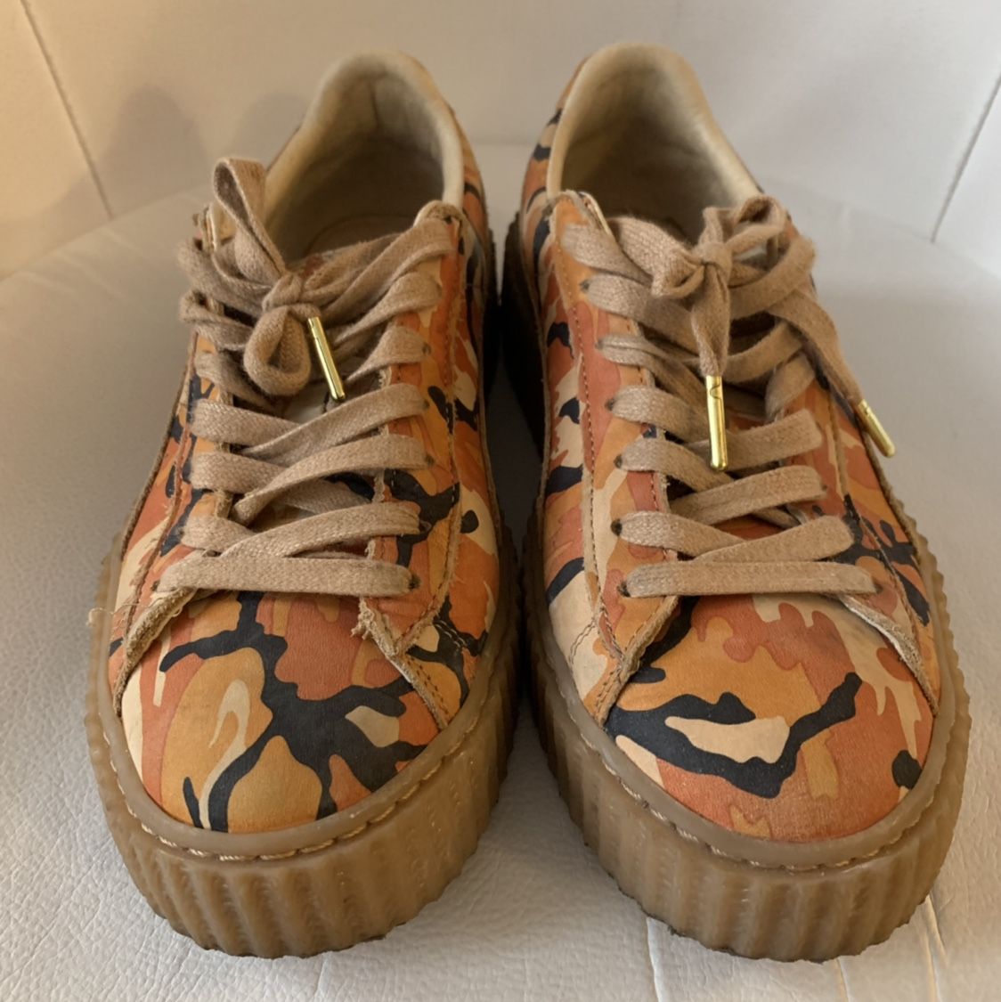 hot sale online f6026 5689d FENTY PUMA CAMO CREEPERS 100% AUTHENTIC GREAT... - Depop