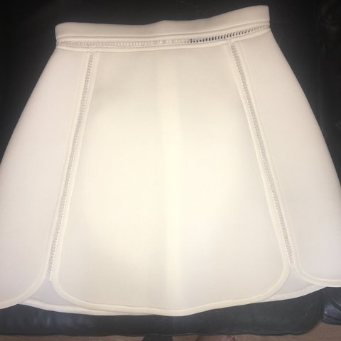 6b46333ea7 Thick white mini skater skirt from missguided. Worn once. 6 - Depop