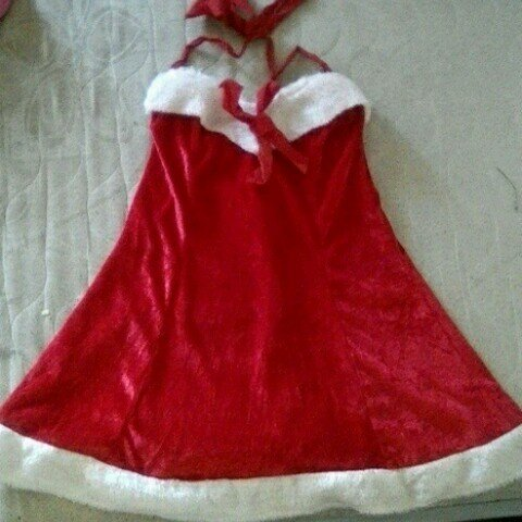 f474e09bf524 @welshowl. 3 years ago. Rhondda Cynon Taff, UK. Sexy Santa Mrs Claus dress  size small. Short red and white ...