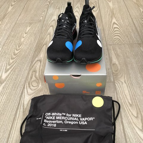781f8825f1aa WTS NIKE ZOOM FLY MERCURIAL X OFF WHITE COND   DS SIZE   45 - Depop