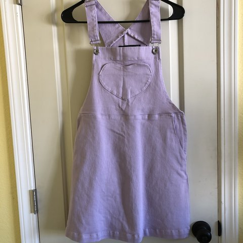3361f76eef Super cute lavender overall dress from Hot Topic. Adjustable - Depop