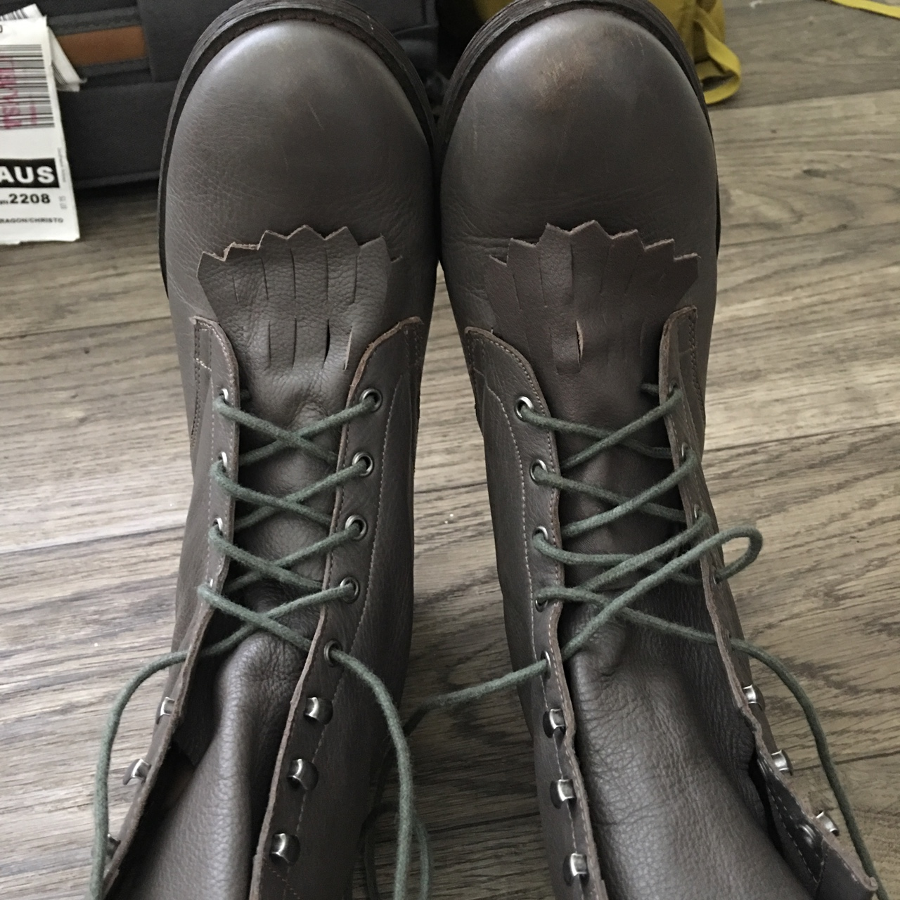 Grey dolce vita lace up combat boots