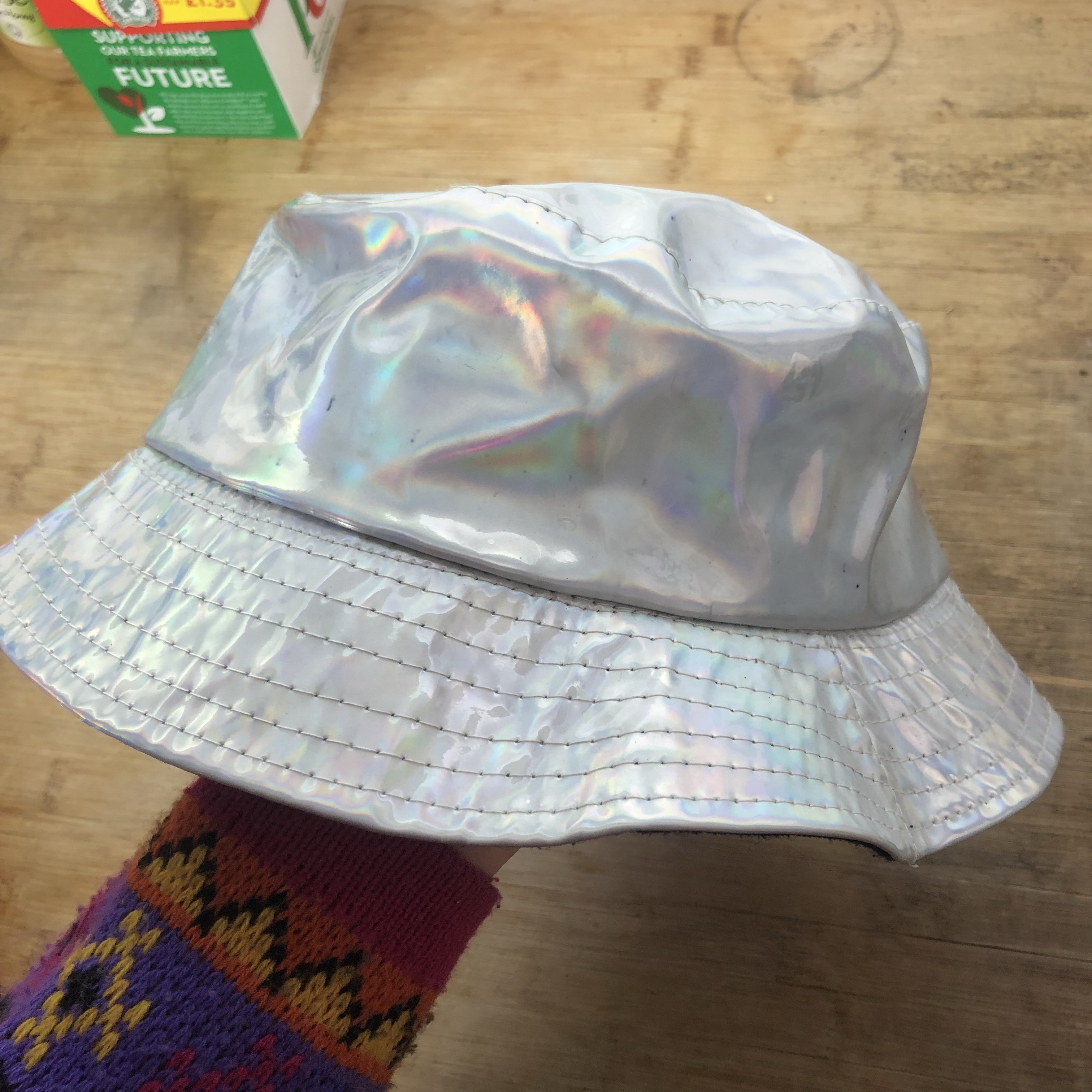 Holographic Bucket Hat Condition Shown In Photos Depop