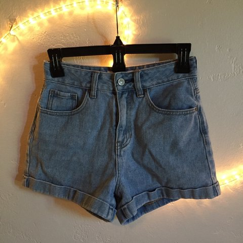 40222e6f1c @cheriez. 10 months ago. Oroville, United States. Perfect high waisted mom jean  denim shorts from PACSUN ...