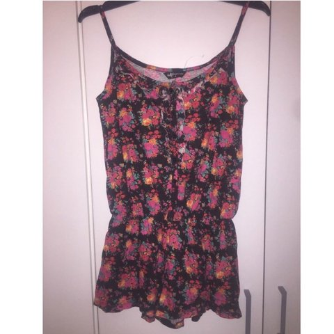 5b1424acd50 Size 8 floral playsuit. Never worn just washed. Message for - Depop