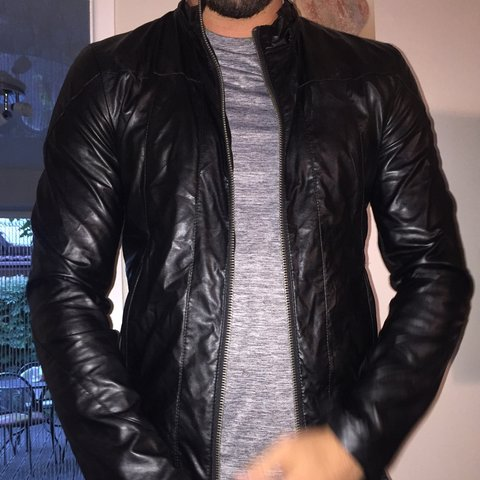 Zara Mens Faux Leather Jacket Worn Handful Of Times For Depop