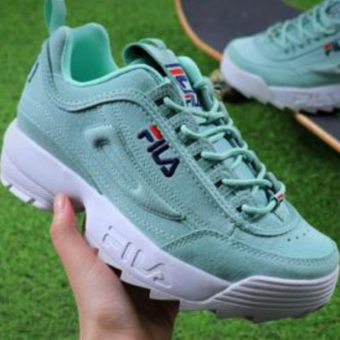 d58f871dbe2  lilysclothing. 6 months ago. United States. Pastel green Fila Disruptor  trainers.