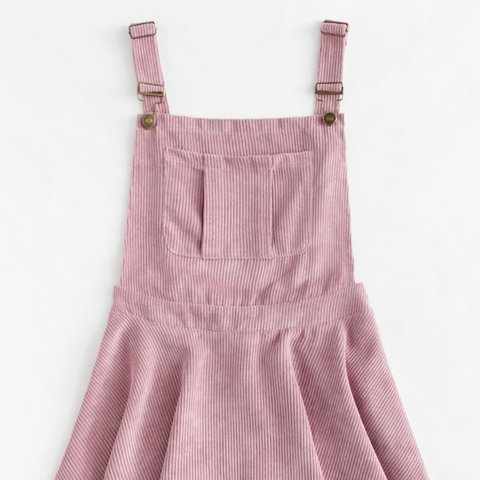 6f69d890243 Pink Corduroy Overall Pinafore Dress REPOP! Worn once