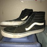 955b83d3da Vans sk8 hi leather hightops in used but good condition. in - Depop