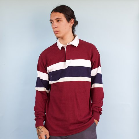 ccb357c8 @the_addict. 23 days ago. Phoenix, United States. Vintage 90s LL Bean  striped Rugby shirt