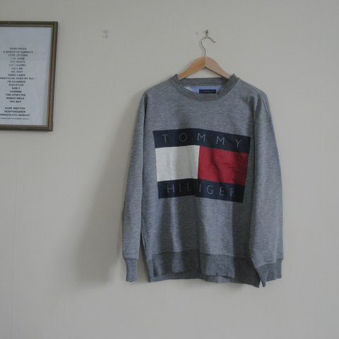 e69d0967 @ralphsssvintage. 2 years ago. Sheffield, UK. Vintage 90s big flag Tommy  Hilfiger sweatshirt jumper ...