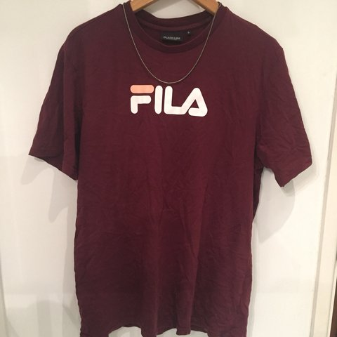 f4ac391bffd0 @petersinclair1. 5 months ago. Guildford, United Kingdom. Vintage FILA t  shirt. Size: Large