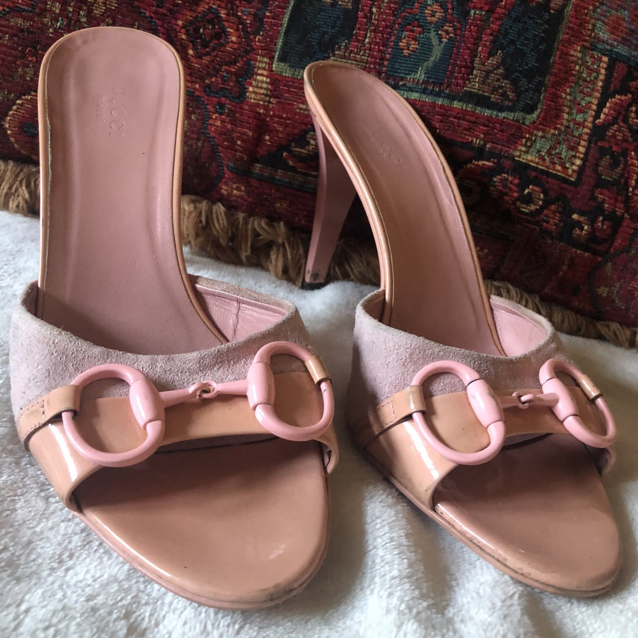 d6d0b2d943d5 vintage gucci sandal heels purchased from the real real so - Depop