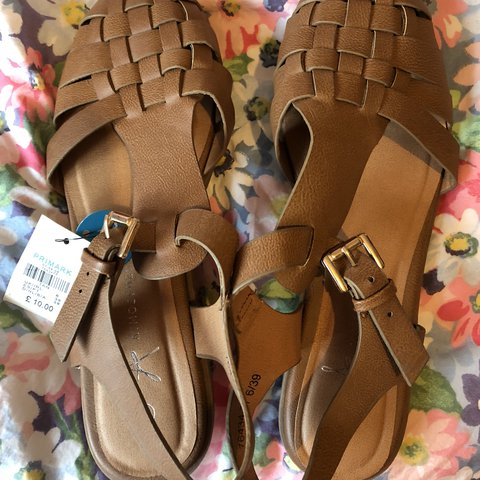 86b8ef8229 Brand new with tags, primark brown sandals. Super cute. been - Depop