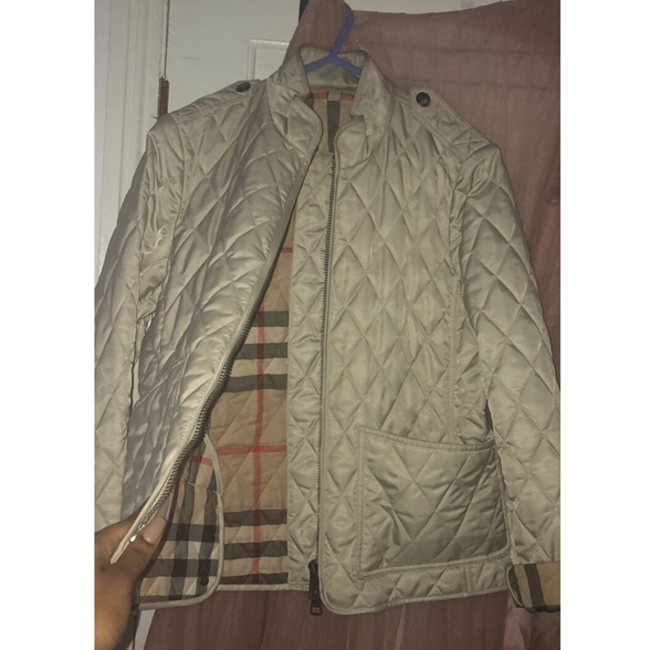 Real Genuine Burberry Brit Diamond Quilted Beige