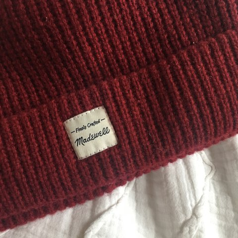 deep red madewell beanie. never worn and in perfect shipping - Depop d96e094cb957