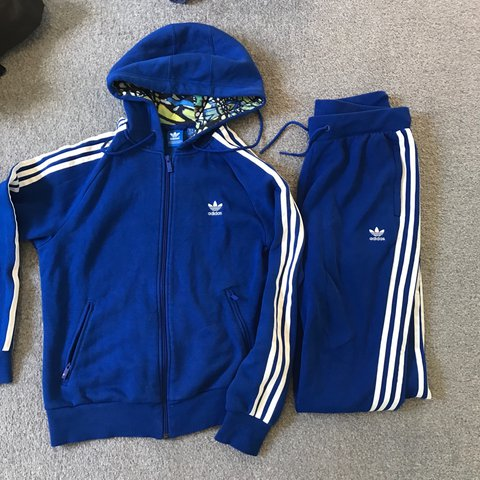 aab12c7c @jaidonbrown15. 2 years ago. Newcastle upon Tyne, United Kingdom. Women's  ladies adidas originals tracksuit blue white bottoms ...