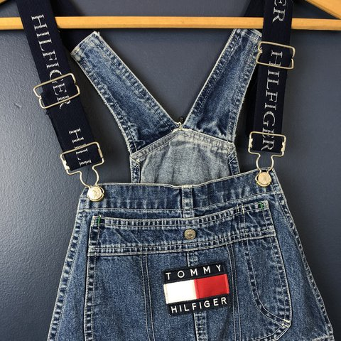 7b6521cc @chitownclassics. last year. Anoka, United States. Vintage 90's Tommy  Hilfiger Flag Overalls.