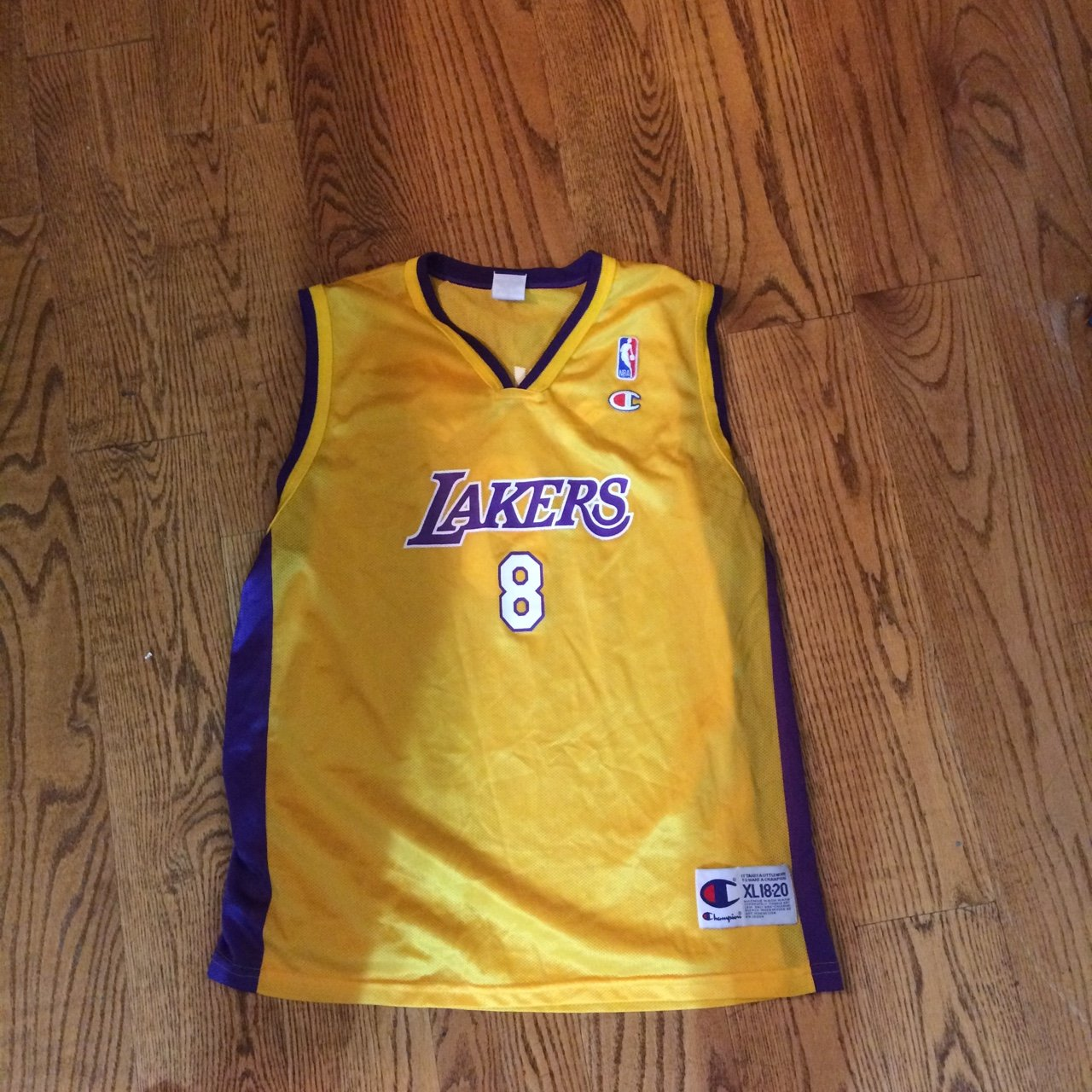 Perfect condition youth size 18-20 Kobe Bryant number 8 also - Depop 03c247120