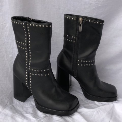 3e0a9c766bb Candies black leather studded boots. in perfect condition