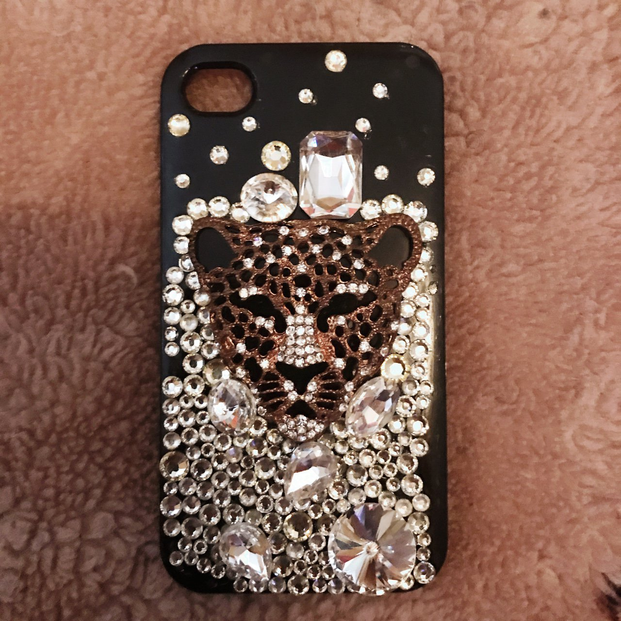 Tiger 🐯 Jeweled iPhone 4 4s case. Good Condition - Depop 436fcbf8d1ff