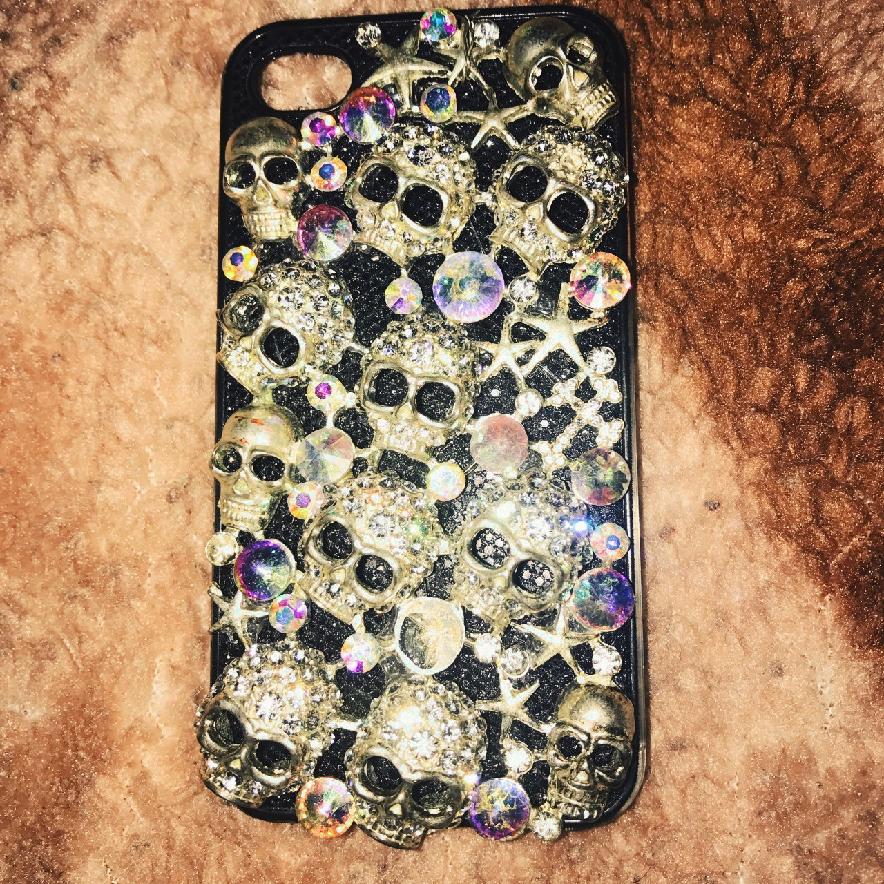 Skull 💀 Jeweled iPhone 4 4s case . Great Condition - Depop 182d0b597874