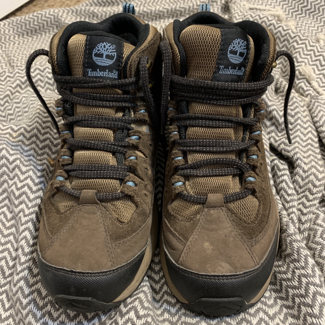 457d3b75052 Genuine leather, timberland gore-tex hiking boots.... - Depop