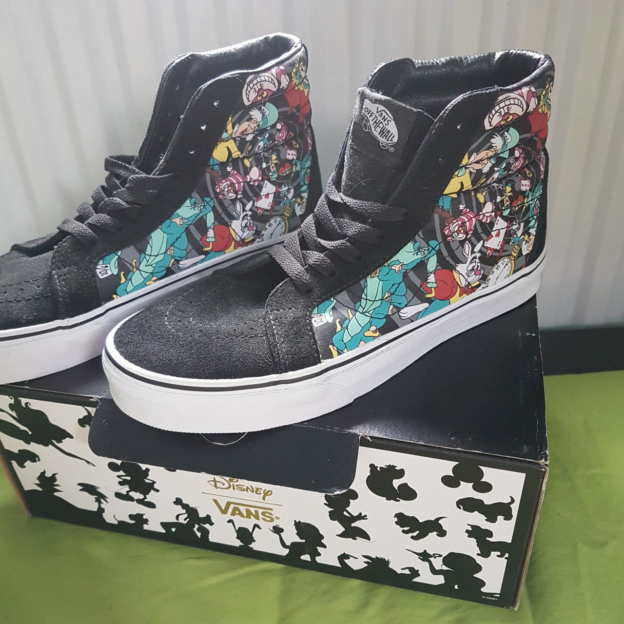 Vans x Alice In Wonderland Disney Sk8-Hi Rabbit Hole Skate - Depop 54d9781f2e91f