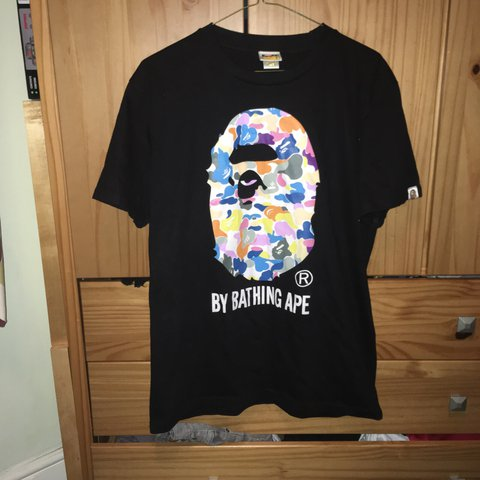 1aa6389b @max_isaacson_. 9 months ago. Cambridge, United Kingdom. A Bathing Ape  Crazy camo tee black. Size M 9/10 Condition