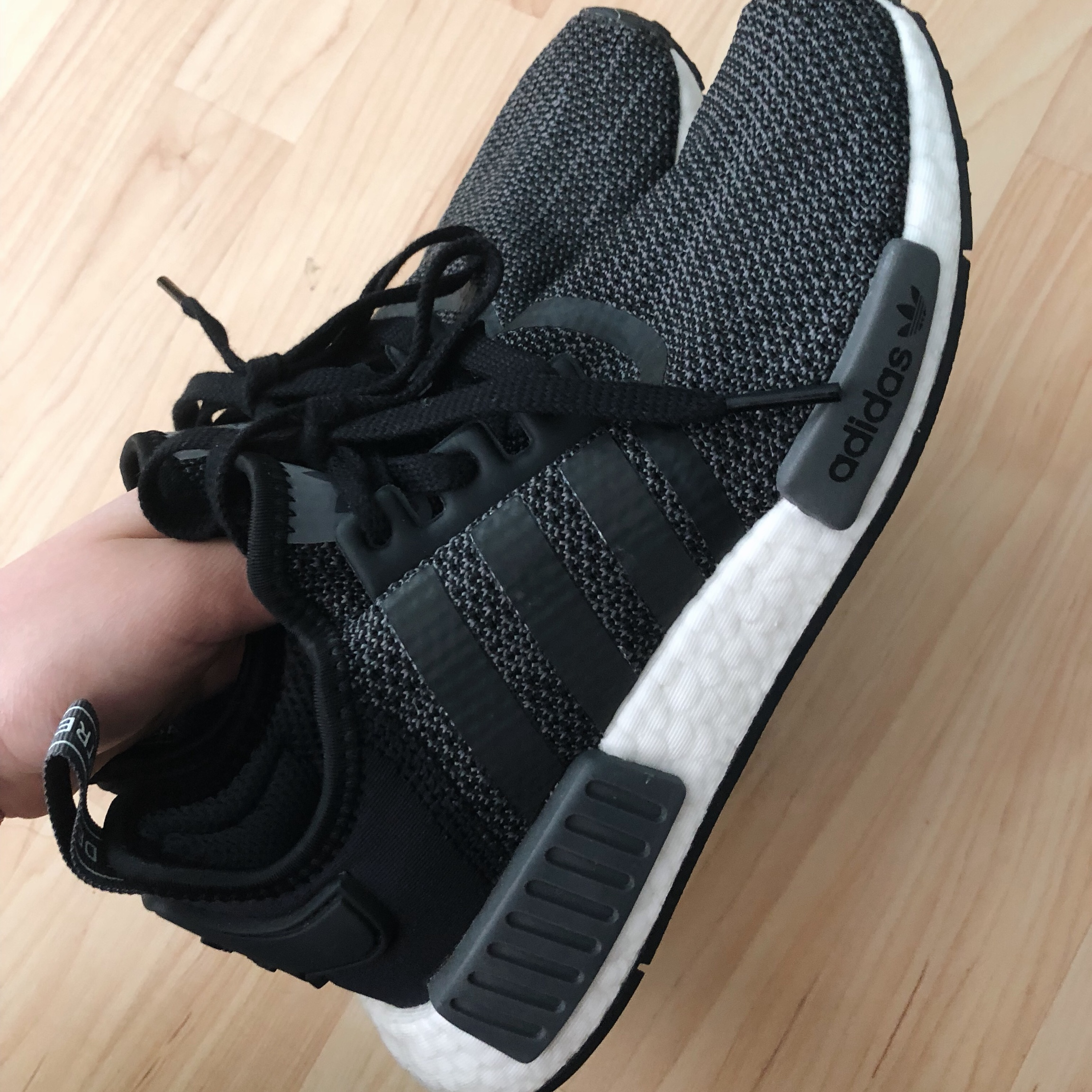 the latest 9839f 96fcb ADIDAS BLACK NMD. WOMEN size 8, MEN size... - Depop