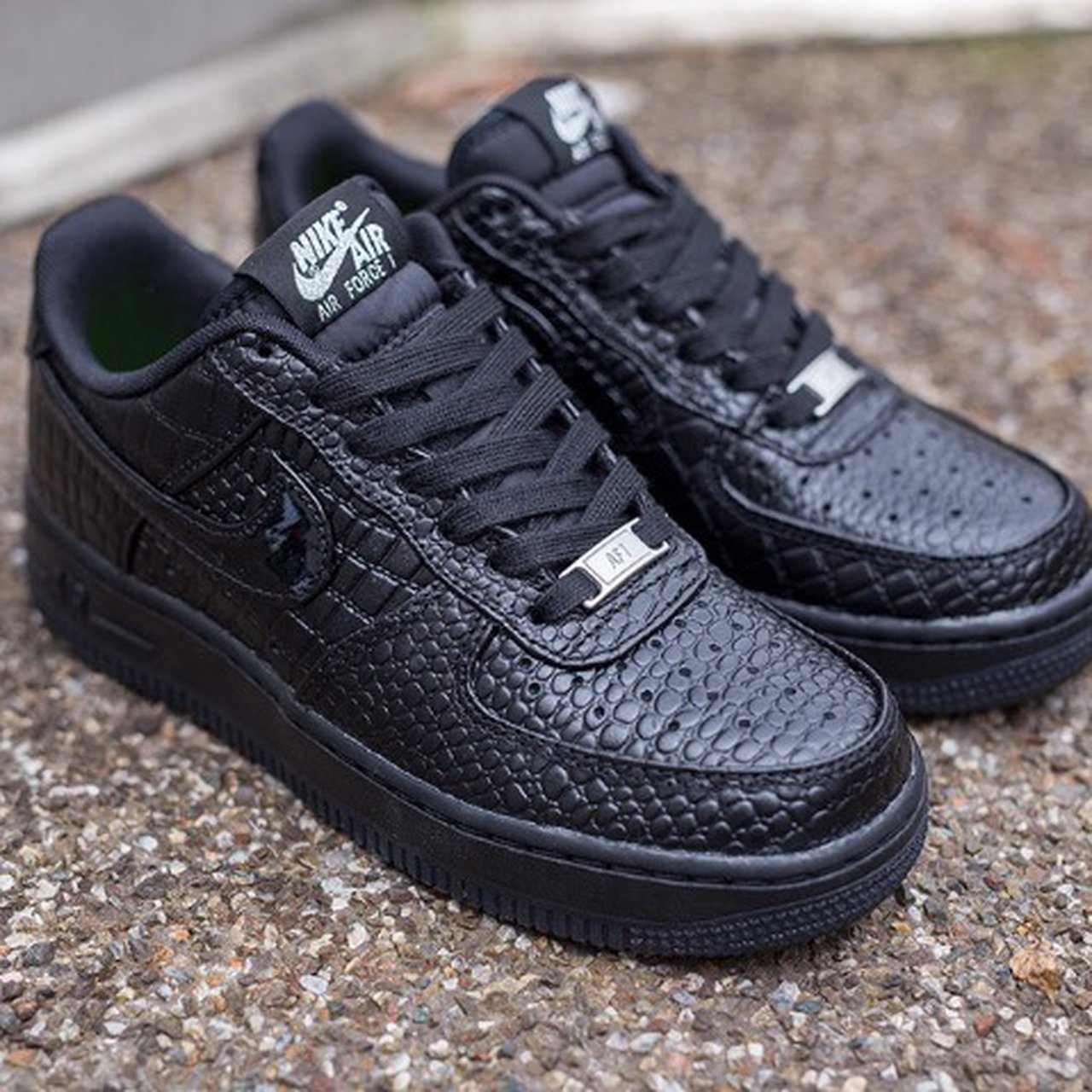 nike air force 1 crocodile noir