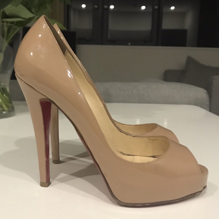 sale retailer 2ad05 4abba Christian Louboutin 100% Genuine Very Prive 120... - Depop