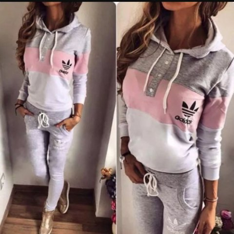 0d3a853d @sherifeandrews345. 3 years ago. United Kingdom. ✨Grey Pink White Woman's Adidas  TrackSuit ...