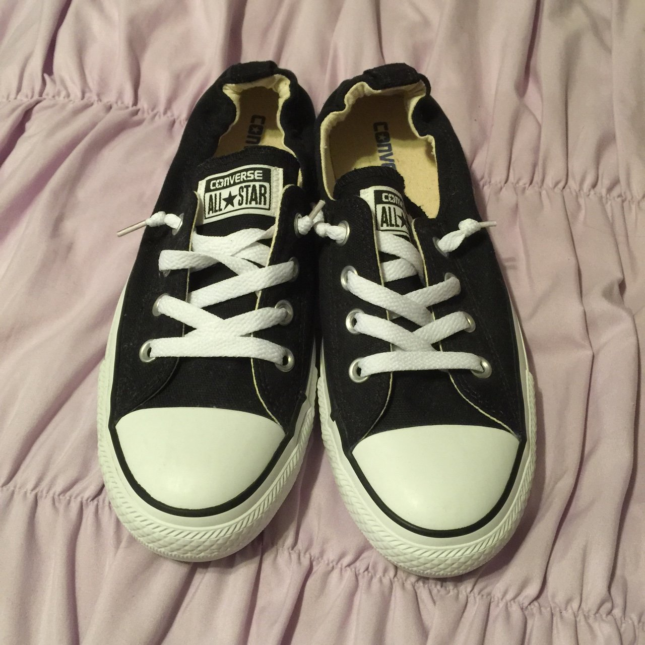 6396b58c42a Never worn used elastic  Converse. I got these as a gift but - Depop